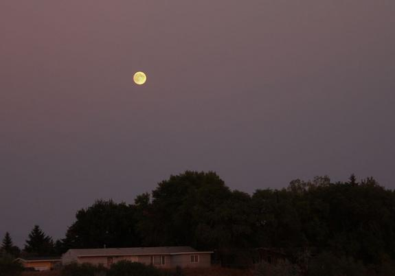 Night sky watcher David Stockinger took this photo of the August 2012 blue moon in Minot, SD, on August 30, 2012.