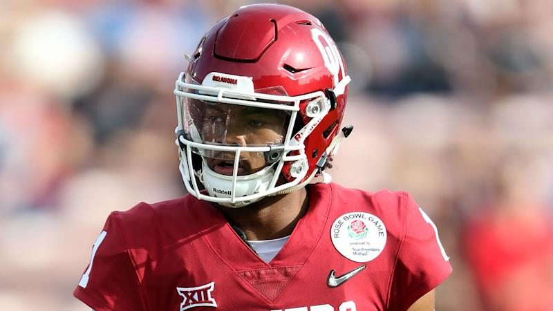 f7852966438 NFL Draft 2019  Baker Mayfield reacts to Cardinals selecting Kyler Murray  with No. 1 pick