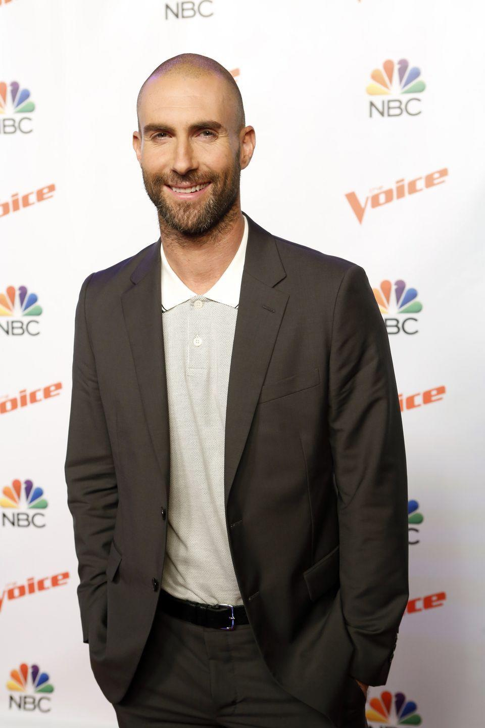 <p><strong>Shaved</strong></p><p>Which is why it didn't surprise fans when the Maroon 5 singer showed up to his TV show with a shaved head. That didn't stop him from his antics with Blake Shelton though...</p>