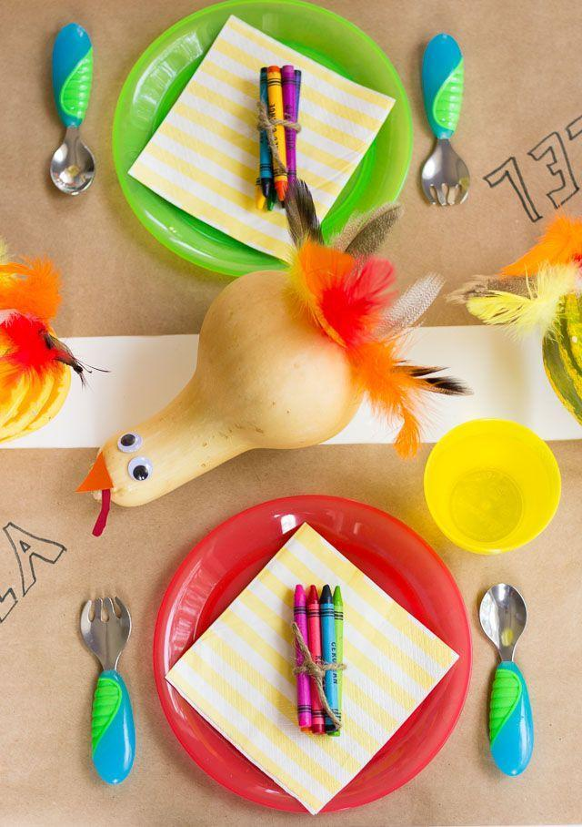 """<p>Crafts with googly eyes are just <em>better</em> than crafts without googly eyes. But the real reason we love this one so much is that it works just as well as a kids' table centerpiece.</p><p><strong>Get the tutorial at <a href=""""https://designimprovised.com/2014/11/thanksgiving-kids-crafts.html"""" rel=""""nofollow noopener"""" target=""""_blank"""" data-ylk=""""slk:Design Improvised"""" class=""""link rapid-noclick-resp"""">Design Improvised</a>.</strong></p><p><strong><a class=""""link rapid-noclick-resp"""" href=""""https://www.amazon.com/Pieces-Self-Adhesive-Scrapbooking-Accessories-Assorted/dp/B01EV0YQ7M?tag=syn-yahoo-20&ascsubtag=%5Bartid%7C10050.g.28638625%5Bsrc%7Cyahoo-us"""" rel=""""nofollow noopener"""" target=""""_blank"""" data-ylk=""""slk:SHOP GOOGLY EYES"""">SHOP GOOGLY EYES</a><br></strong></p>"""