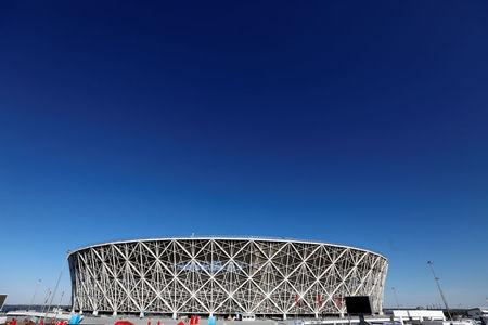 Volgograd Arena stadium is seen in Volgograd