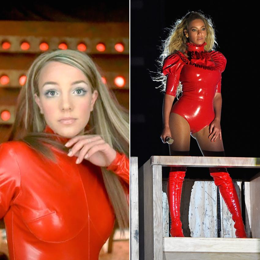 <p>We really didn't think anyone but Britney could pull off a latex bodysuit, but Beyonce left us pleasantly surprised. </p>