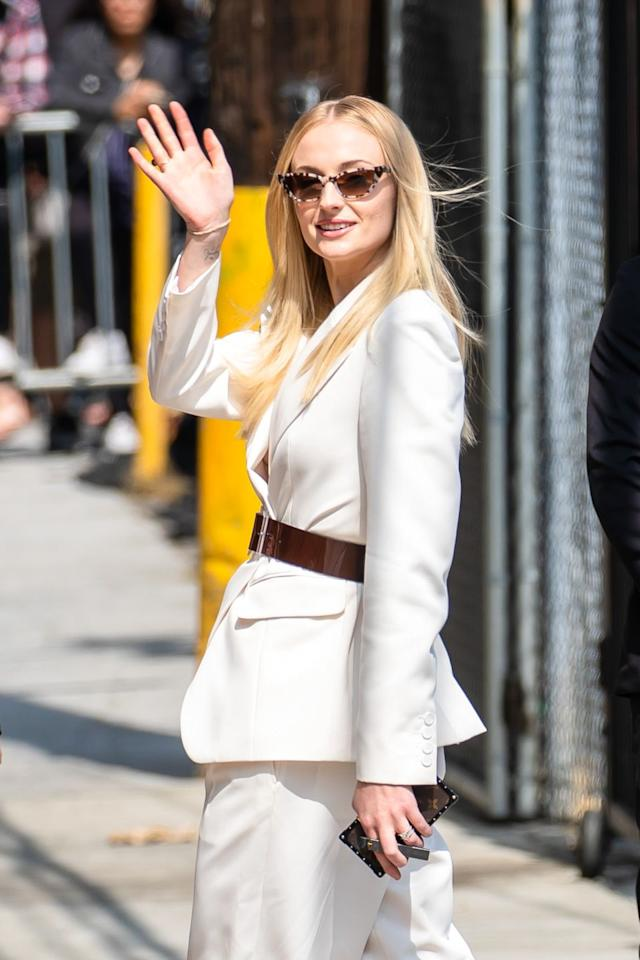 <p>A good cream or white jacket is just the thing to make all your looks really come alive. Double points if you belt it like Sophie Turner.</p>