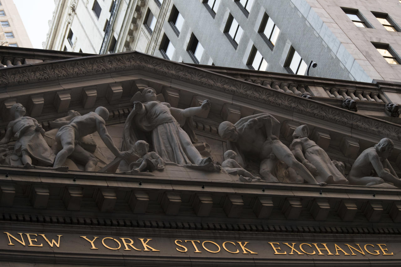 <p> FILE - This Tuesday, Oct. 25, 2016, file photo shows the New York Stock Exchange at sunset, in lower Manhattan. Global stocks continued to rise Friday, Dec. 9, 2016 as investors remained buoyed by the European Central Bank's decision to extend its bond-buying economic stimulus program. (AP Photo/Mary Altaffer, File) </p>