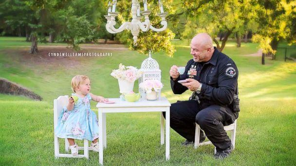 PHOTO: Evelyn Joy Deborah Hall was born on July 18, 2016 in Texas after Officer Mark Diebold of the Tarrant County police helped deliver the newborn for parents Destiny and Caleb Hall. (Cyndi Williams Photography)
