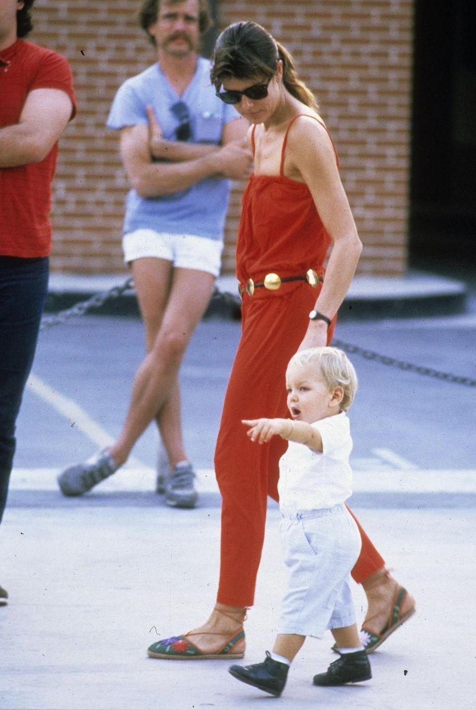 <p>The princess and 2-year-old Andrea in Key West, Florida.</p>
