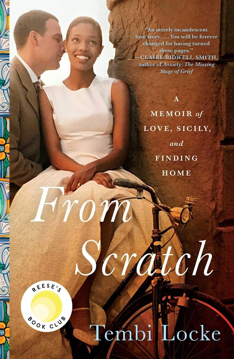 """<p><strong>Simon & Schuster</strong></p><p>bookshop.org</p><p><strong>$15.64</strong></p><p><a href=""""https://go.redirectingat.com?id=74968X1596630&url=https%3A%2F%2Fbookshop.org%2Fbooks%2Ffrom-scratch-a-memoir-of-love-sicily-and-finding-home%2F9781501187667&sref=https%3A%2F%2Fwww.cosmopolitan.com%2Fentertainment%2Fbooks%2Fg33958606%2Freese-witherspoon-book-club-list%2F"""" rel=""""nofollow noopener"""" target=""""_blank"""" data-ylk=""""slk:Shop Now"""" class=""""link rapid-noclick-resp"""">Shop Now</a></p><p>In this poignant memoir, you follow Tembi's journey of love and heartbreaking loss after her husband, Saro, passes away, and she has to rely on the support of three generations of women. Her story is a reminder that you can overcome every curveball life throws at you.</p><p><strong>From Reese:</strong> <em>""""She learns to heal in the most beautiful way—through the support of three generations of women—and yes, there's Italian food. Lots and lots of Italian food!""""</em></p>"""