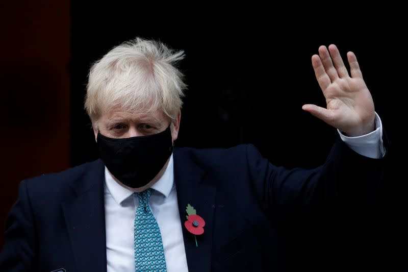 Britain's Prime Minister Boris Johnson leaves Downing Street, in London