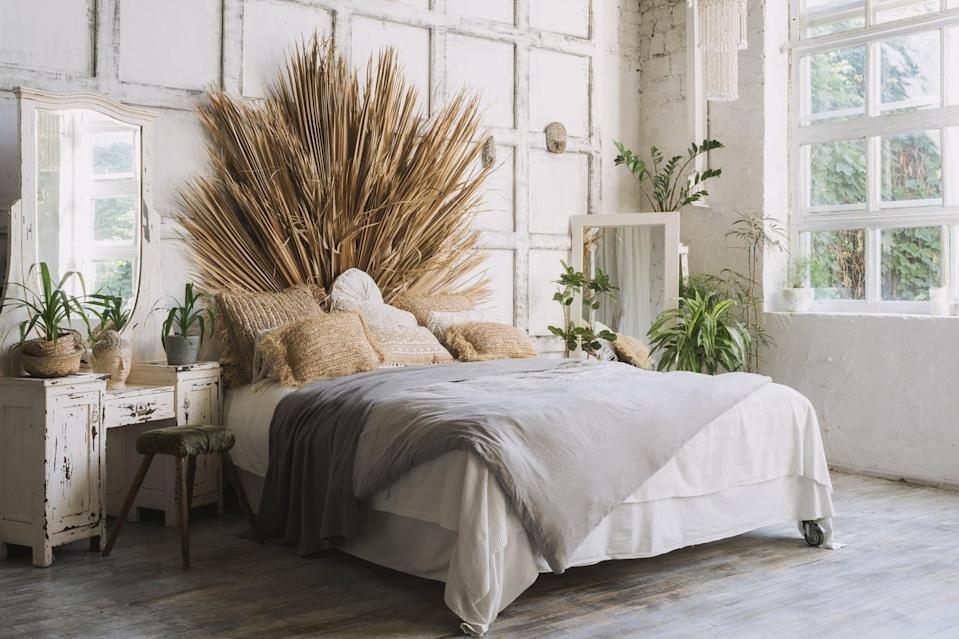 <p> If you can have a headboard behind your bed, why not do it? There are so many headboards on the market that have interesting details, and they are anything but boring. As a result, your room will look more put together with an anchor piece for eyes to look at. </p>
