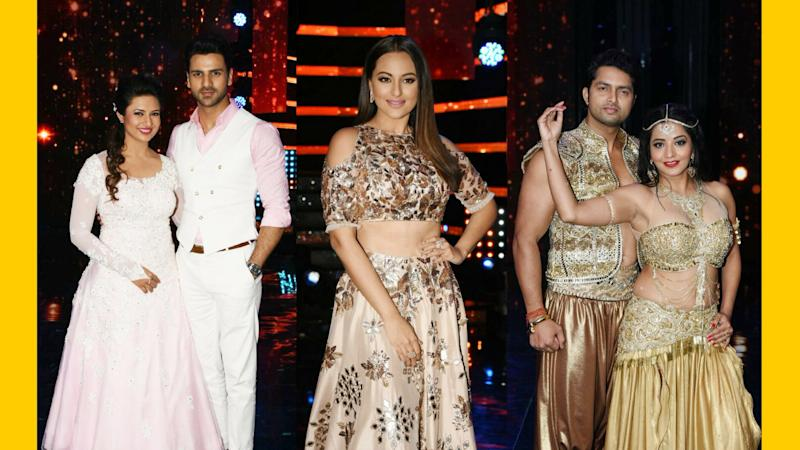 In Pics: Sonakshi Sinha With the Celeb Jodis of 'Nach Baliye 8'