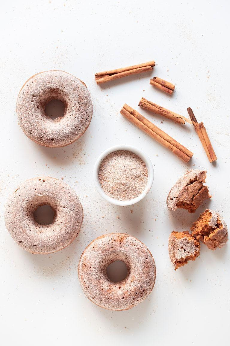 "<p>These vegan (and gluten-free!) donuts are so easy to make, the little ones can have a blast helping out. If you don't finish them all for dessert, save them for the next morning and dunk in your coffee for a perfect breakfast treat. </p><p><em><a href=""https://simpleveganblog.com/vegan-baked-pumpkin-donuts-gluten-free/"" rel=""nofollow noopener"" target=""_blank"" data-ylk=""slk:Get the recipe from Simple Vegan Blog »"" class=""link rapid-noclick-resp"">Get the recipe from Simple Vegan Blog »</a></em></p>"