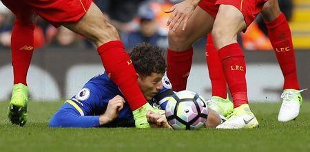 Britain Soccer Football - Liverpool v Everton - Premier League - Anfield - 1/4/17 Everton's Ross Barkley in action Reuters / Phil Noble Livepic