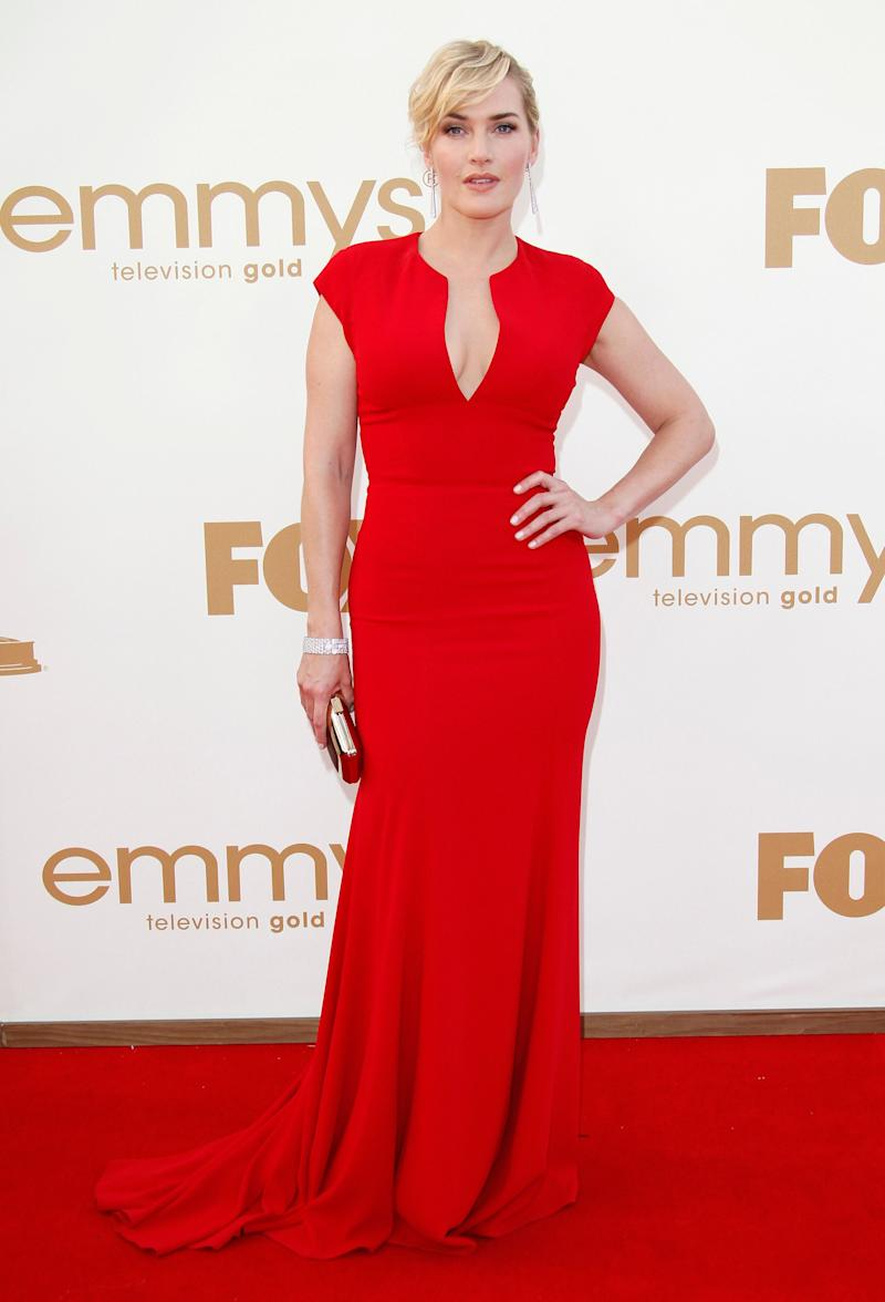 In an Elie Saab gown at the 63rd Primetime Emmy Awards held at Nokia Theatre L.A. Live on Sept. 18, 2011, in Los Angeles.