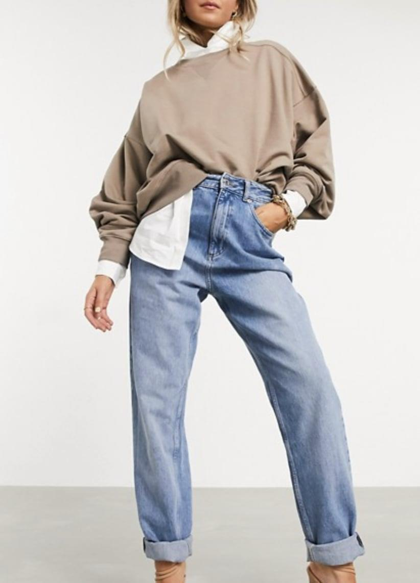 <p>I've been a ASOS fans for years now and these <span>High Rise 'Slouchy' Mom Jeans in Midwash</span> ($63) definitely live up to the brands high quality standard without the high price tag. They can easily be dressed up as seen here, or dressed down with a graphic tee.</p>