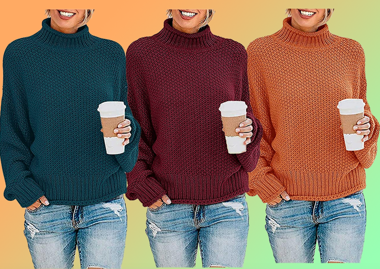 Our favorite new loose-fit sweater comes in a rainbow of autumn hues — choose from 26 options! (Photo: Amazon)