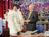 <p>The Late Show with David Letterman celebrates its 20th Anniversary on Thursday with Bill Murray, who was the Late Show's first guest 20 years ago. Murray retrieved a time capsule as part of the festivities on the Late Show with David Letterman Thursday Aug. 29, 2013.</p>