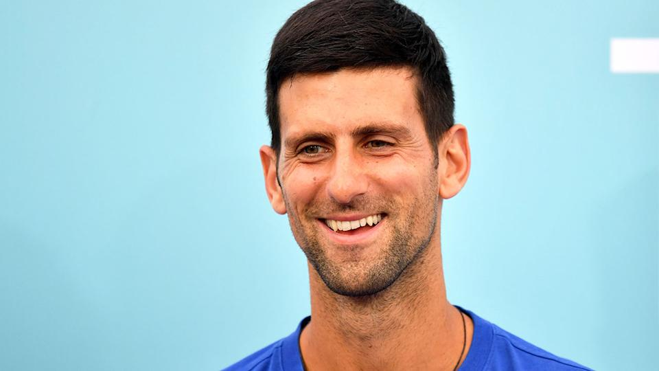 Pictured here, World No.1 Novak Djokovic is chasing an 18th career major title at the US Open.