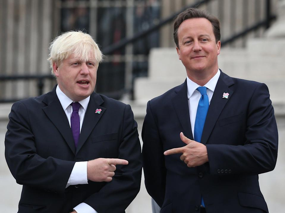 Boris Johnson and David Cameron together in 2012Getty Images