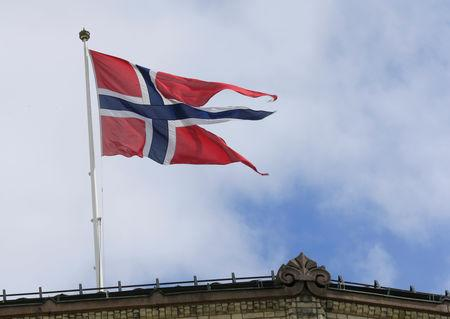 A Norwegian flag flutters over building in Oslo, Norway May 31, 2017. REUTERS/Ints Kalnins