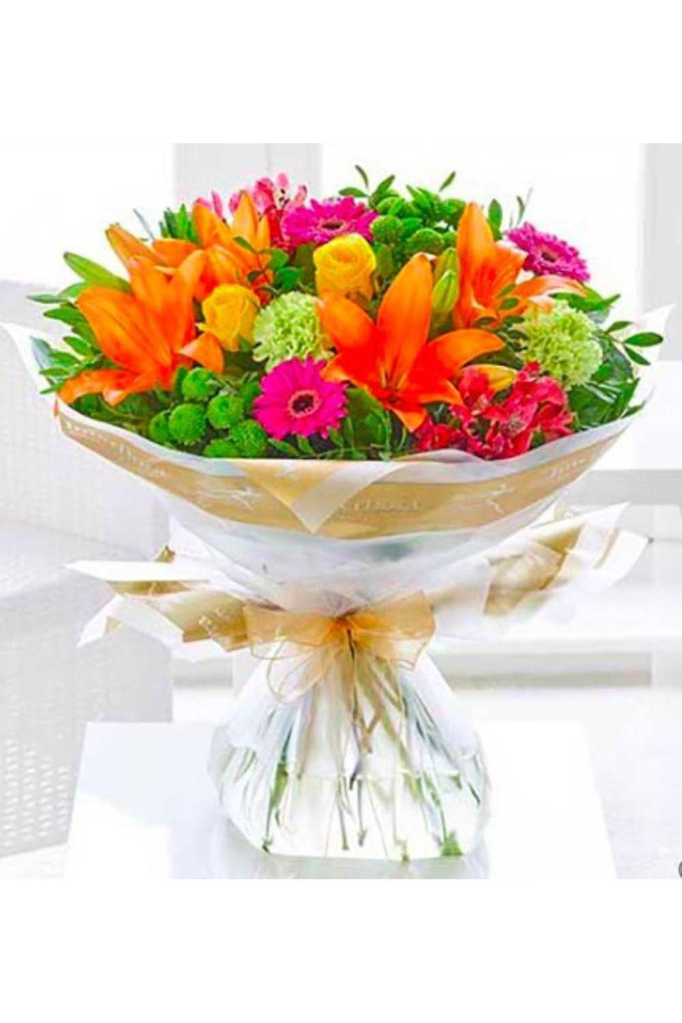 """<p><strong><a class=""""link rapid-noclick-resp"""" href=""""https://www.flowerssameday.co.uk/html/detail-images-2.asp?prodID=C00381VS"""" rel=""""nofollow noopener"""" target=""""_blank"""" data-ylk=""""slk:BUY NOW"""">BUY NOW</a></strong><strong> Vibrant hand-tied, £</strong><strong>38.99, </strong><strong>Flowers Same Day</strong></p><p>The clue's in the name at Flowers Same Day, who offer afternoon delivery on all orders placed up to 14:45, and the potential for same day delivery after that time for orders placed by telephone (it depends on the driver's availability).</p>"""