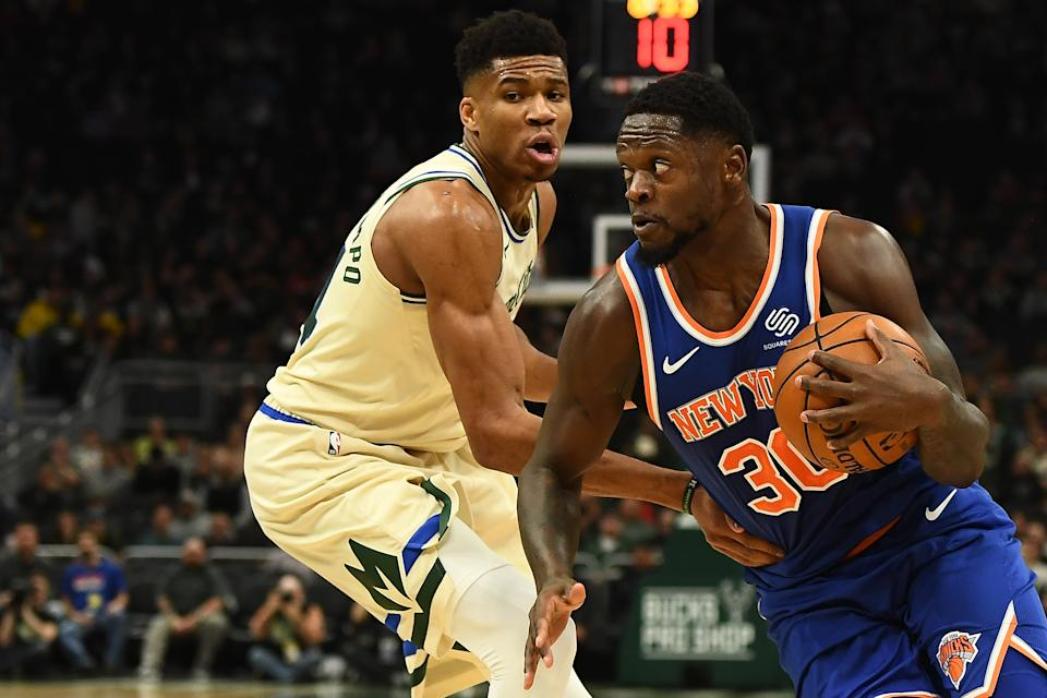 Julius Randle isn't exactly working out for the Knicks. (Photo by Stacy Revere/Getty Images)
