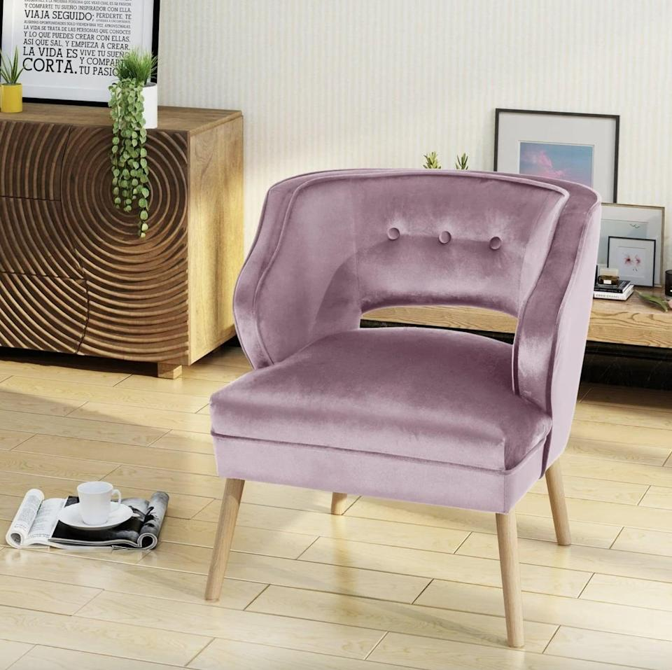 <p>Everyone will fight to sit in this luxurious <span>Christopher Knight Home Mariposa Mid Century Velvet Accent Chair</span> ($185, originally $208) - there's no doubt it will be the best spot in the house.</p>