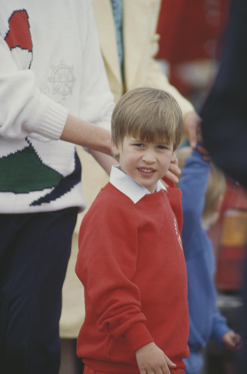 Prince William, aged five, at the Guards Polo Club in Windsor, in 1987 (Getty Images)