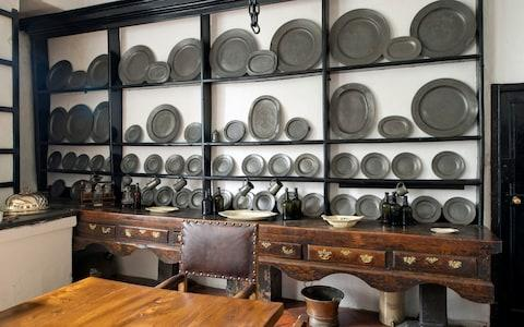 The pewter sideboard in the dining room - Credit: christopher jones