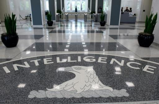 The Central Intelligence Agency (CIA) seal displayed in the lobby of CIA Headquarters in Langley, Virginia