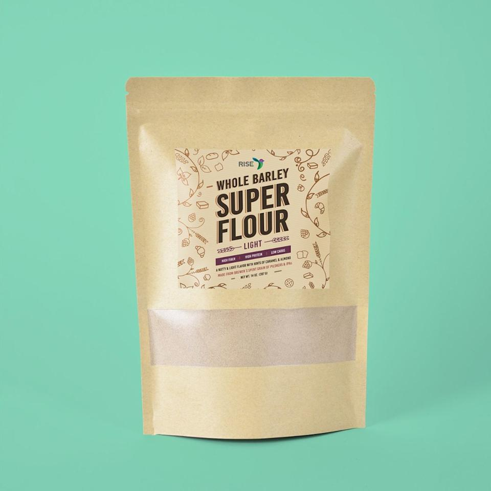 "<p>Just like ReGrained upcycles the nutritious grain that's leftover from brewing beer, Rise transforms it into a stoneground, high-fiber (<a href=""https://www.riseproducts.co/shop/barley-flour"">12 grams per ounce</a>!) flour that you can order <a href=""https://www.riseproducts.co/shop"">online</a>. They refer to it as Super Flour.</p> <p><strong>Buy it:</strong> $24, <a href=""https://www.riseproducts.co/shop/barley-flour"">riseproducts.co</a></p>"