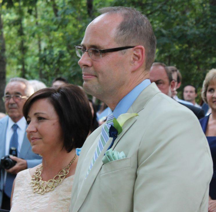 Ernie Johnson credits his wife, Cheryl, with helping him expand out of his comfort zone.<br>(Courtesy of Ernie Johnson)