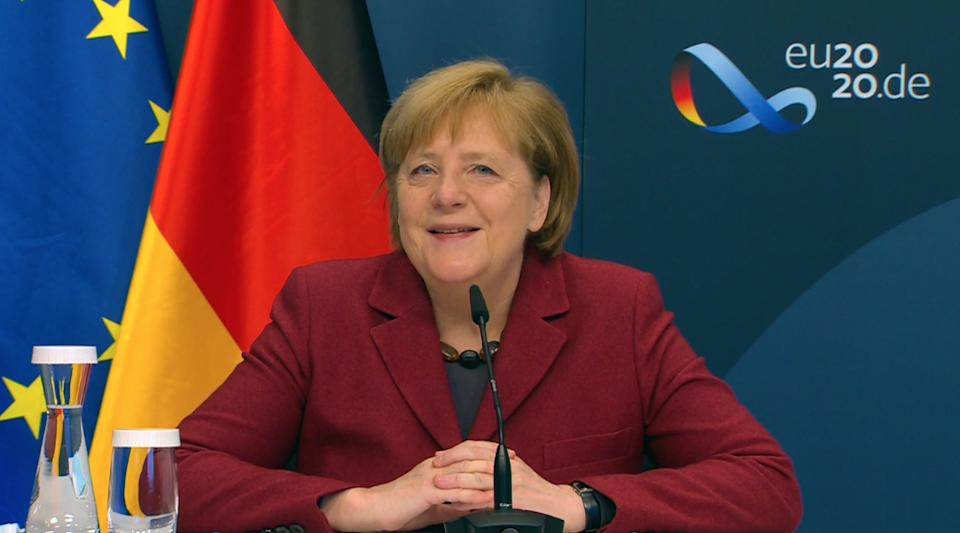 El 2021 en Europa estará marcado por la marcha de Merkel. (Photo by German Chancellery/Pool/Anadolu Agency via Getty Images)