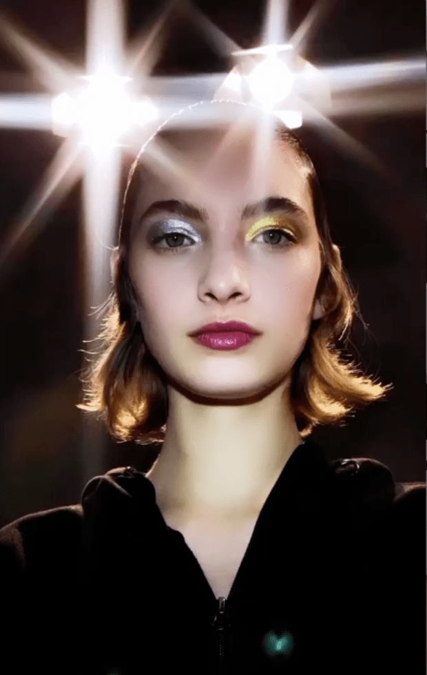 <p>A beauty look from the Fall 2021 Prada show. Photo: Courtesy of @PatMcGrathReal/Instagram</p>