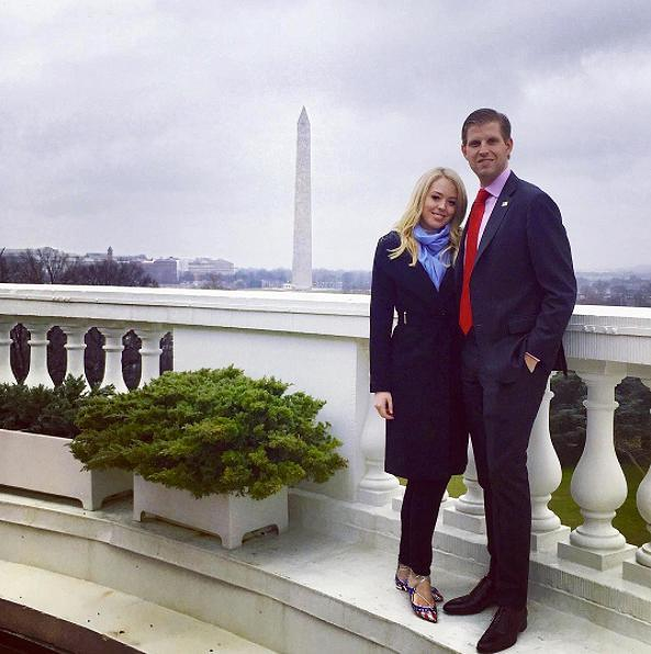 "<p>Trump's youngest daughter flaunted her patriotic side in sparkling red, white and blue Aquazzura ""Christy USA"" glitter ballerina flats while touring the White House days after her father's inauguration. The same brand, ironically, is currently suing the Ivanka Trump label. <i> (Photo: Instagram) </i> </p>"