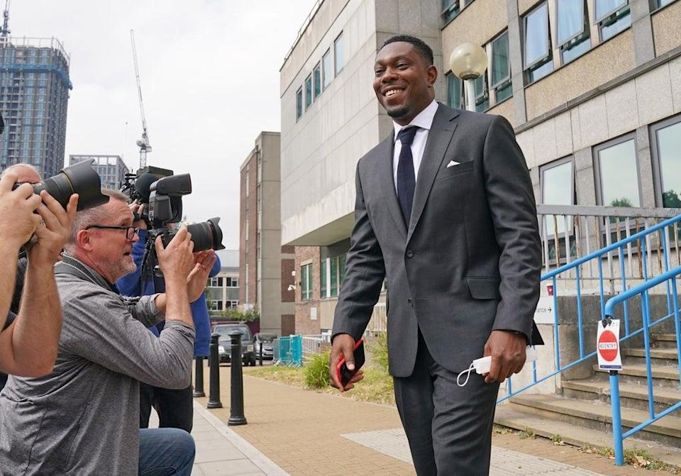Dizzee Rascal, real name Dylan Mills, leaves Croydon Magistrates' Court (Gareth Fuller/PA) (PA Wire)