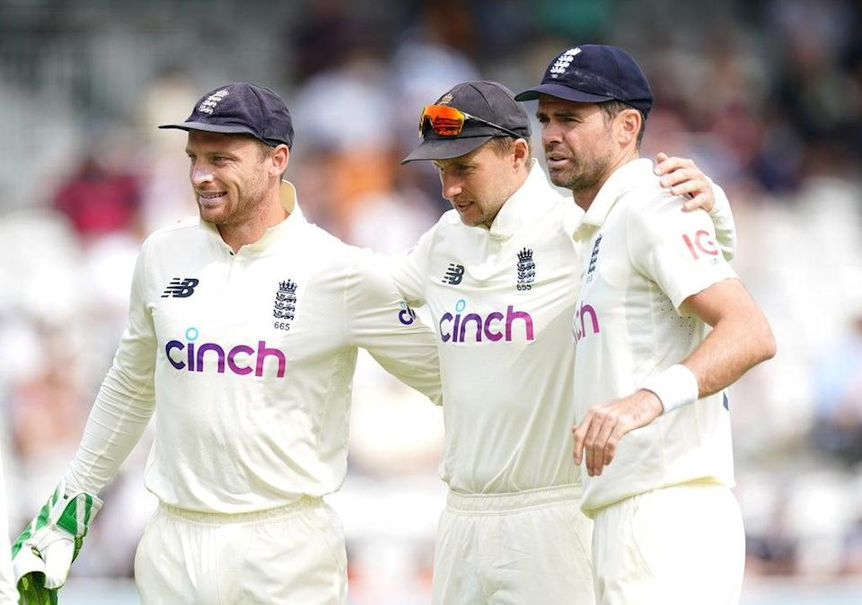 Jos Buttler, Joe Root and James Anderson (left to right) are among those who must make a choice soon (Zac Goodwin/PA) (PA Wire)