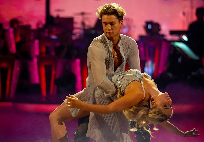 AJ Pritchard and Saffron Barker performing on last week's show (Credit: BBC)