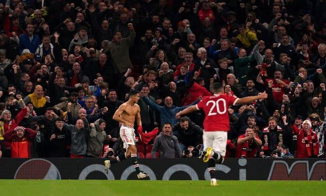 Old Trafford erupts after Cristiano Ronaldo's last-gasp winner