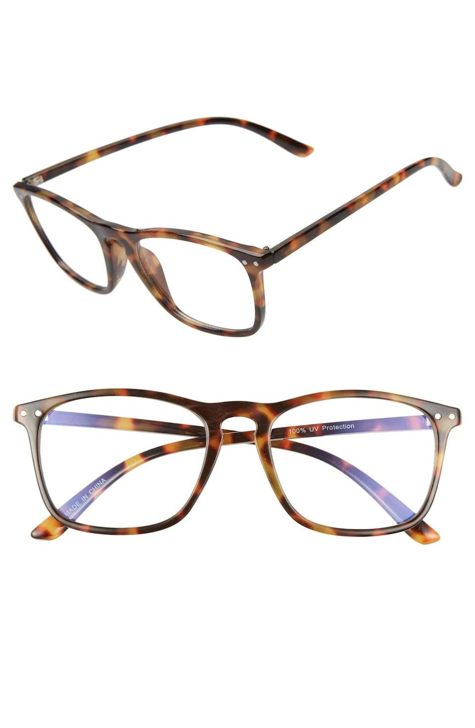 <p>Get these <span>BP. Blue Light Blocking Square Glasses</span> ($15) for the person who's on the computer all day.</p>