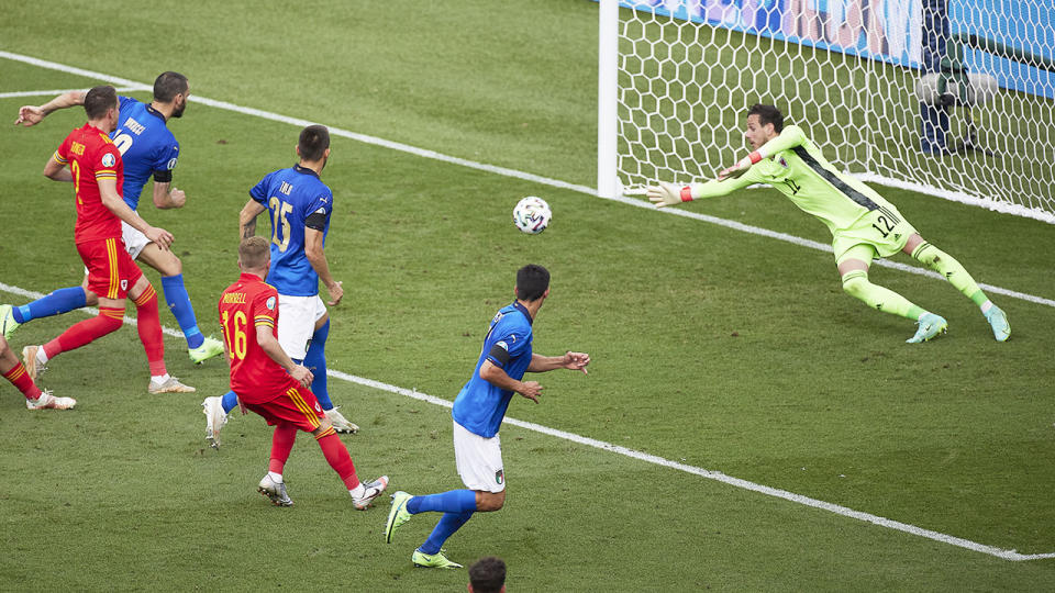 Matteo Pessina, pictured here scoring for Italy against Wales at Euro 2020.