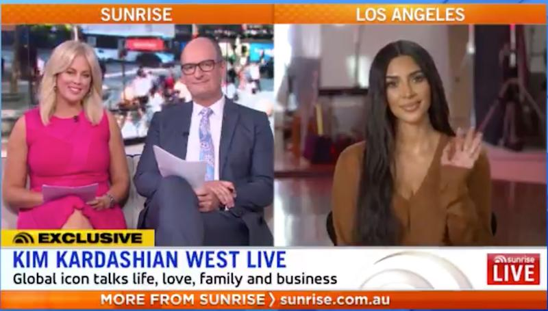 Sunrise samantha armytage and david koch interview with kim kardashian