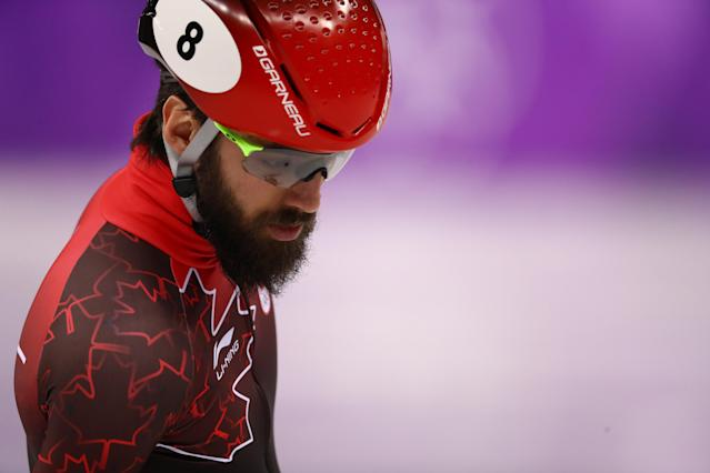 <p>Canadian speed skater Charles Hamelin is headed home from the Games medaless, but we'll always have fond memories of his lush, full chin curtain. (Getty) </p>
