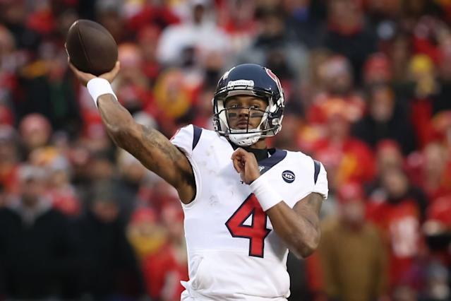 Texans quarterback Deshaun Watson. (Getty Images)