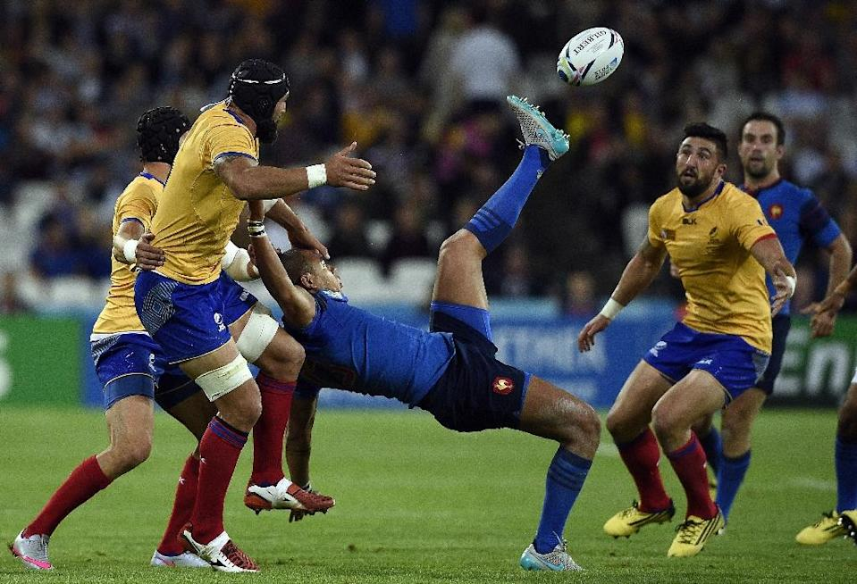 Romania have lost an integral part of their scrum with flanker Valentin Ursache (L) suspended for a week for a dangeorus tackle (AFP Photo/Franck Fife)