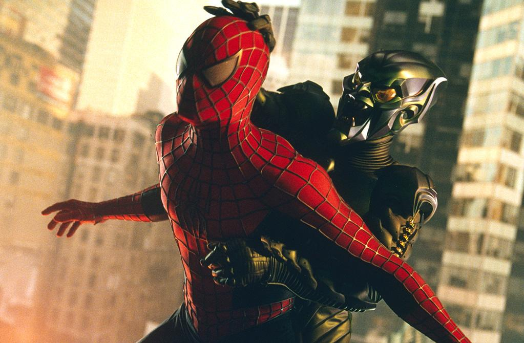 """2. SPIDER-MAN  Total Domestic Gross: $1,113,822,503   <a href=""""http://movies.yahoo.com/movie/1803454613/info"""">Spider-Man</a> (2002) - $403,706,375  <a href=""""http://movies.yahoo.com/movie/1808398861/info"""">Spider-Man 2</a> (2004) - $373,585,825  <a href=""""http://movies.yahoo.com/movie/1808496334/info"""">Spider-Man 3</a> (2007) - $336,530,303"""
