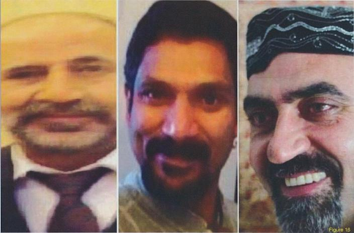<p>An image of a missing person poster for Skandaraj Navaratnam, Abdulbasir Faizi and Majeed Kayhan found on McArthur's computer, among other images of his victims. (Photo provided by the Crown) </p>