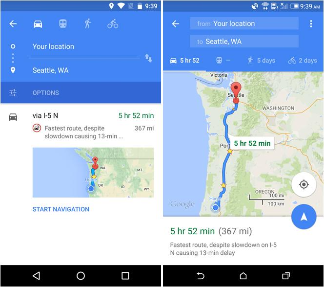 Google Maps For Android Gets A Welcome Navigation Ui Change