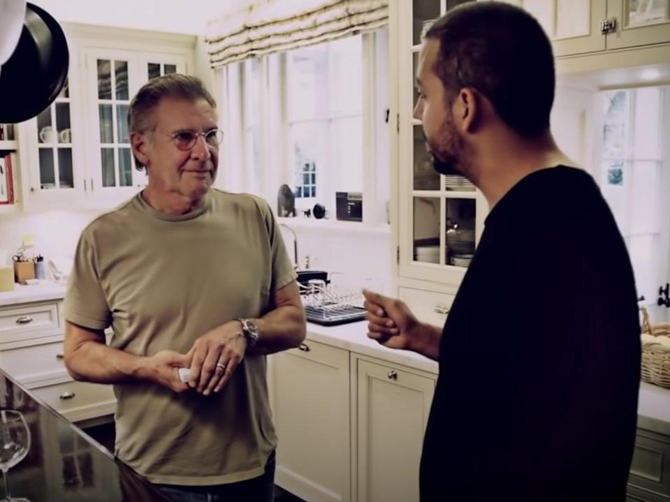 Harrison Ford and David Blaine in the 2013 TV special 'David Blaine: Real or Magic' (YouTube/David Blaine)