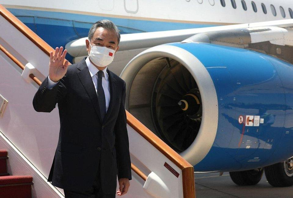 Chinese Foreign Minister Wang Yi arrives in Damascus on Saturday on his three-nation Middle East trip. Photo: AFP