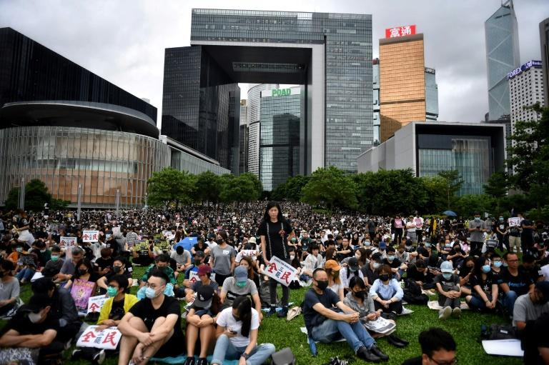 The protests were sparked by opposition to the extradition bill but have morphed into a wider pro-democracy movement (AFP Photo/Lillian SUWANRUMPHA)